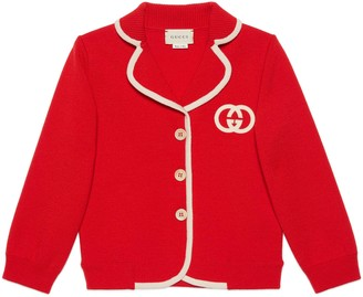 Gucci Children's wool cardigan with Interlocking G