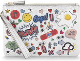 Anya Hindmarch Sticker leather clutch