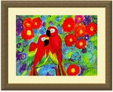 Bed Bath & Beyond Robin Parrots with Flowers Print Wall Art