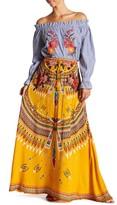 Flying Tomato Print Maxi Skirt
