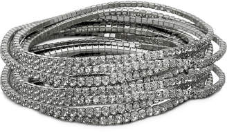GUESS 10-Pc. Set Crystal Stretch Bracelets