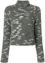 Carven cropped roll-neck jumper - women - Acrylic/Polyamide/Wool/Alpaca - S