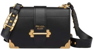 Prada Cahier Large Leather Bag