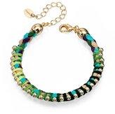 Fiorelli Boho Style Green Thread & Gold Combination Bracelet...Diameter: 6cm