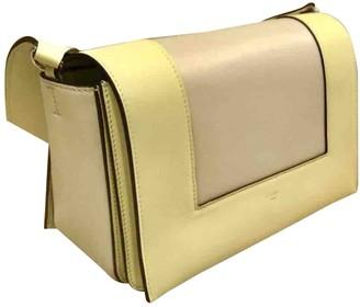 Celine Frame Yellow Leather Handbags