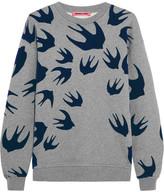 McQ Flocked Cotton-blend Terry Sweater - Light gray
