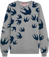 McQ Flocked Cotton-blend Terry Sweater