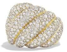 David Yurman Hampton Cable Ring With Diamonds In 18K Gold