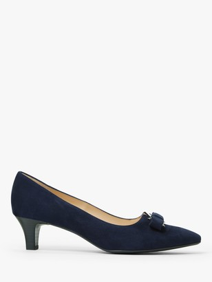 Peter Kaiser Saris Bow Detail Low Heel Court Shoes, Navy