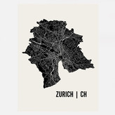 Mr City Printing Zurich Map Print 18x24