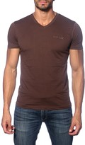 Jared Lang Solid V-Neck Tee