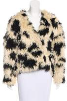 Tibi Faux Fur Printed Jacket