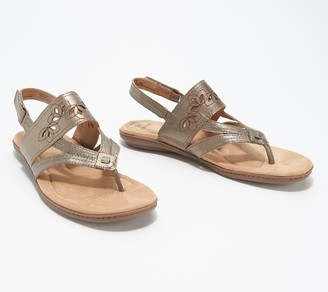 Earth Origins Leather Thongs Sandals - Belle Becky