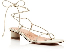 LOQ Women's Dora Trenzado Braided Barely There Strappy Sandals