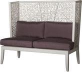 David Francis Furniture Mykonos Outdoor 58 Loveseat, Purple