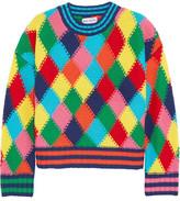 Mira Mikati Diamond-stitched Wool-blend Sweater