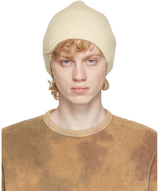 Our Legacy Off-White Wool Knitted Beanie