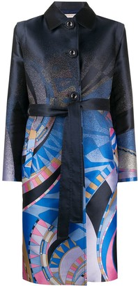 Emilio Pucci Abstract Print Coat