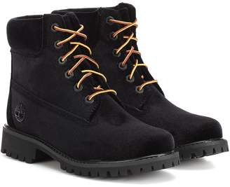 Off-White Off White x Timberland velvet ankle boots