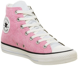 Converse All Star Hi Trainers Corduroy Herbal Pink Egret Exclusive