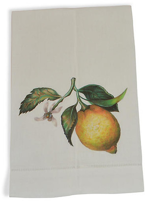 Set of 2 Lemon Guest Towels - Yellow - The French Bee