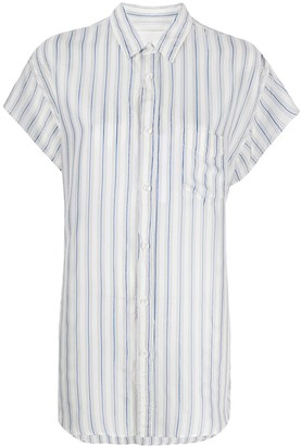Maison Margiela Pinstriped Short Sleeved Shirt