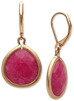 lonna & lilly Gold-Tone Cherry Red Drop Earrings