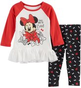 """Disney Disney's Minnie Mouse Baby Girl """"All About The Bows"""" Skirted Top & Leggings Set"""