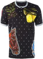 Dolce & Gabbana printed Henley top