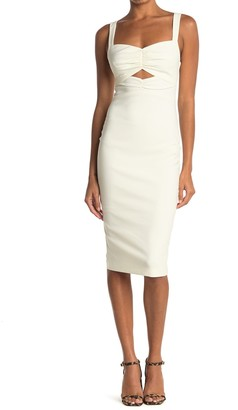 LIKELY Terry Fitted Sweetheart Cutout Dress