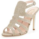 Sarah Jessica Parker Zofia Metallic Linen Sandal, Gold