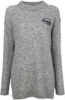 Markus Lupfer sequin embroidered Lara Lip Daisy sweater