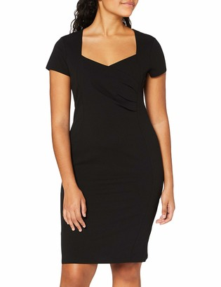 Dorothy Perkins Women's Black Wrap Ruched Bodycon Dress Casual 6