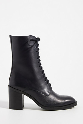 Jeffrey Campbell Square-Toe Lace-Up Boots By in Blue Size 9