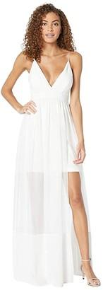 Nicole Miller Chiffon Maxi Dress (Ivory) Women's Dress