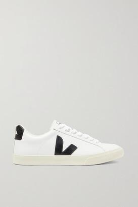 Veja + Net Sustain Esplar Rubber-trimmed Leather Sneakers - White