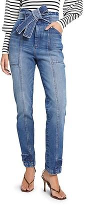A.L.C. Luke Tie-Waist Straight Leg Jeans