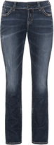 Silver Jeans Plus Size Suki embroidered straight cut jeans