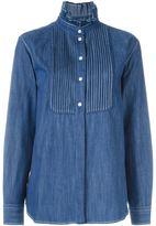 Sonia Rykiel pleated bib denim shirt