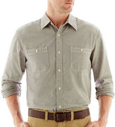 JCPenney St. John's Bay Long-Sleeve Chambray Shirt