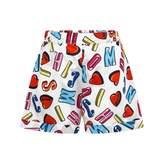Moschino Girls Logo Heart Print Shorts