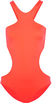 Melissa Odabash Ibiza Neon Cutout Swimsuit - Bright orange