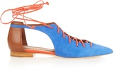 Malone Souliers Montana lace-up suede flats