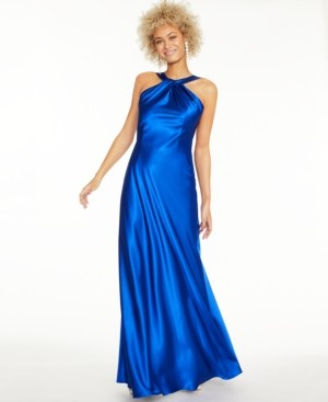 Calvin Klein Twisted Halter Gown