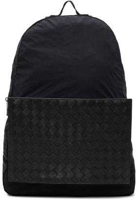 Bottega Veneta Black Intrecciato Packable Backpack