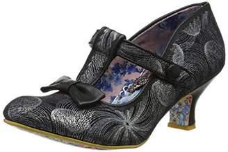 Irregular Choice Women's Lazy River T-Bar Heels, Blue/Gold, 39 EU