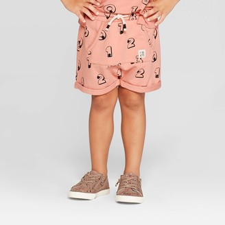 Toddler Girls' Pocket Front 'Numbers' Shorts - art class
