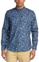 Samsoe & Samsoe Samsoe and Samsoe Men's Liam Cx Regular Fit Button Down Long Sleeve Casual Shirt