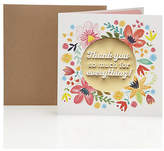Marks and Spencer Glittery Floral Contemporary Thank You Card