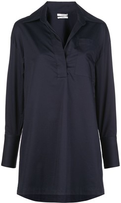 Co Loose-Fit Open-Collar Blouse